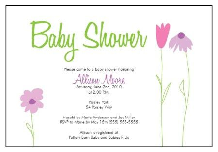 Baby Shower Invitation Templates: Flower Garden Whimsy