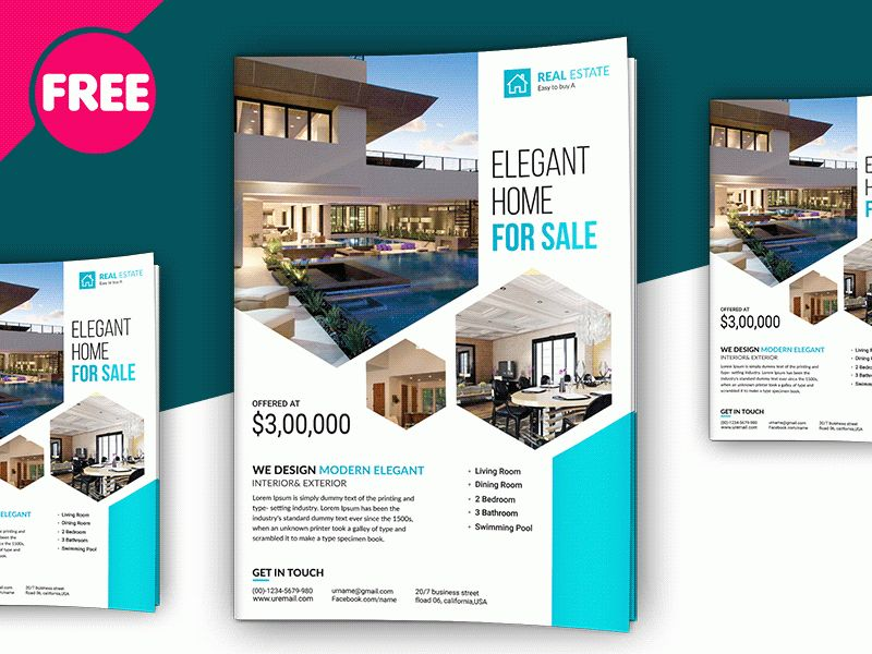 Free PSD - Premium Real Estate Flyer Template by Free Download PSD ...
