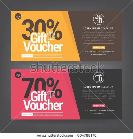 Discount Voucher Template Colorful Patterncute Gift Stock Vector ...