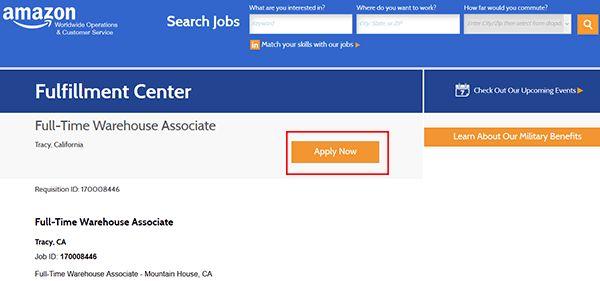 Amazon Job Application - Apply Online