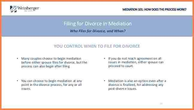 8+ can a mediator file divorce papers | Divorce Paper