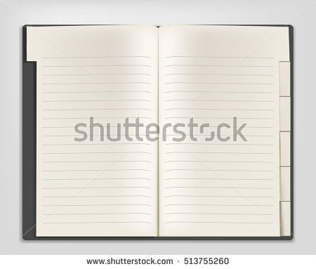 Blank Realistic Spiral Notepad Notebooktemplate Your Stock Vector ...