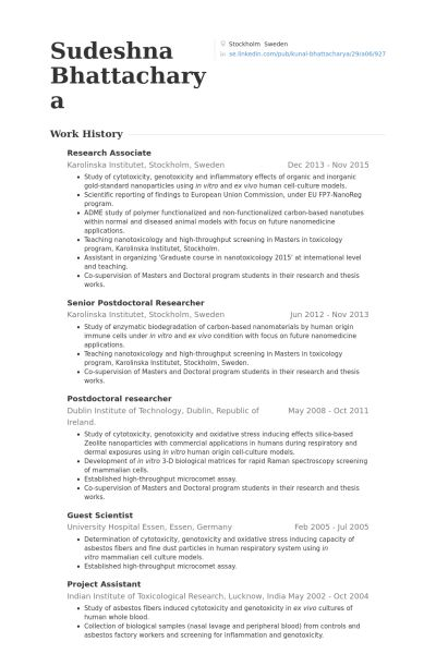 Research Associate Resume Sample Resume For Clinical Research ...