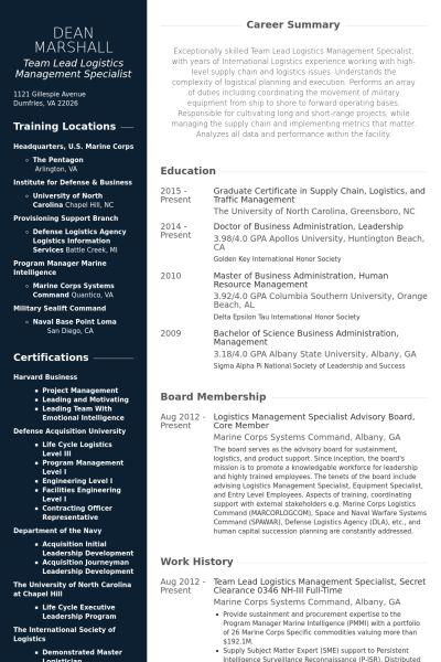 Team Lead Resume samples - VisualCV resume samples database