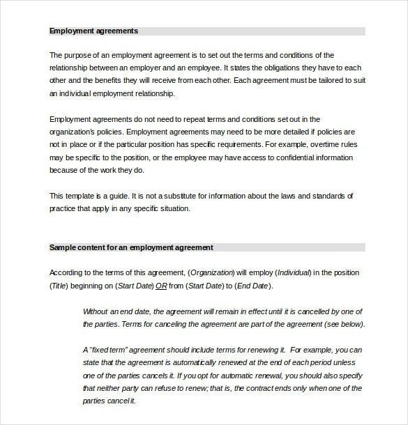 HR Agreement Templates - 10+ Free Sample, Example, Format Download ...