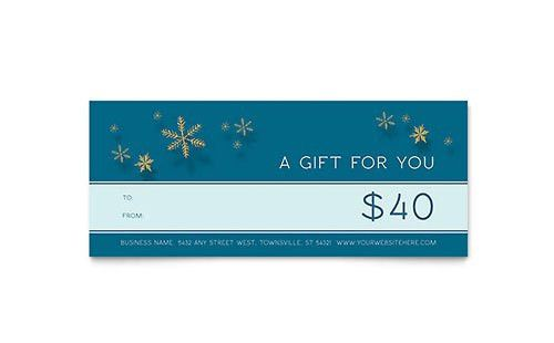 Free Gift Certificate Template - Word - Publisher - Microsoft