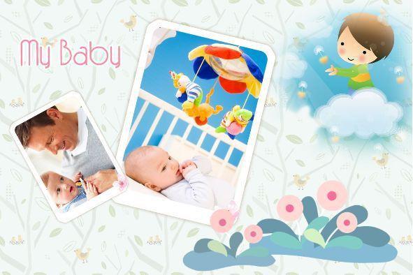 Free photo templates - My Baby Album 2
