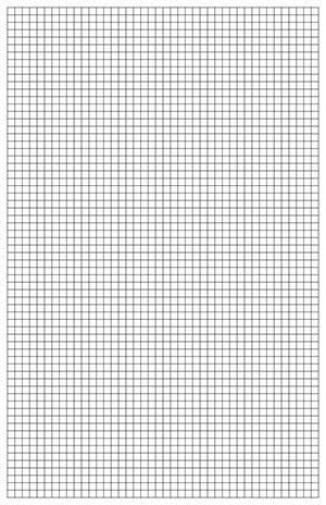 Graph paper is great for a wide range of creative projects ...