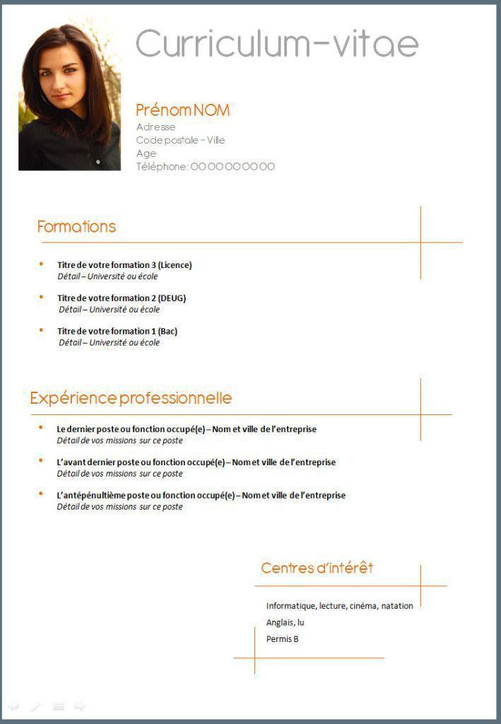 CV Francais