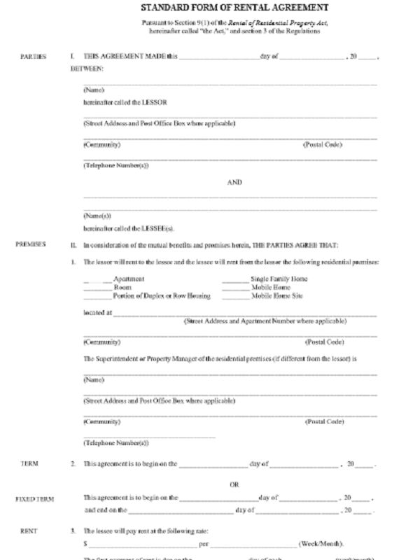 Internet for Free Rental Agreement Forms - Free Job Application Form