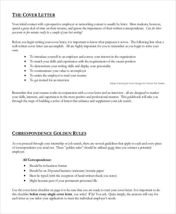 Sample Generic Cover Letter - 8+ Examples in Word, PDF