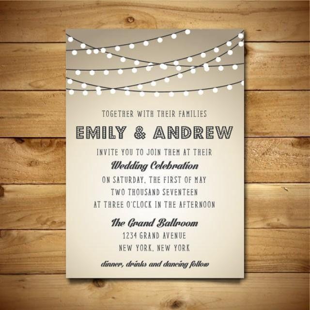 Printable Vintage Style Wedding Invitation Template - String ...