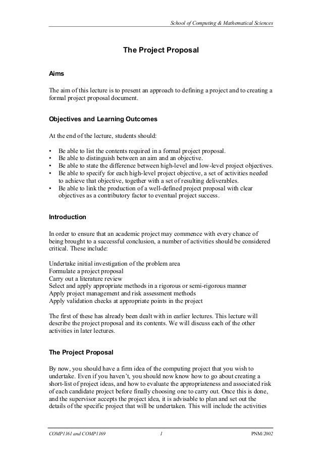 Comp 1181-writing a project proposal