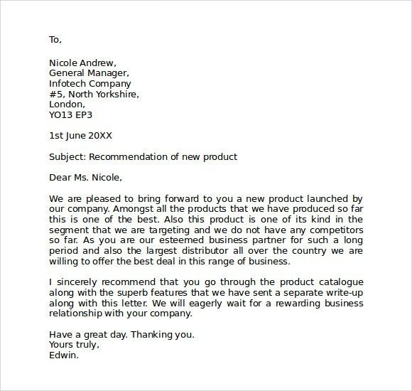 Sample Business Letter Format Template. 30+ Business Proposal ...