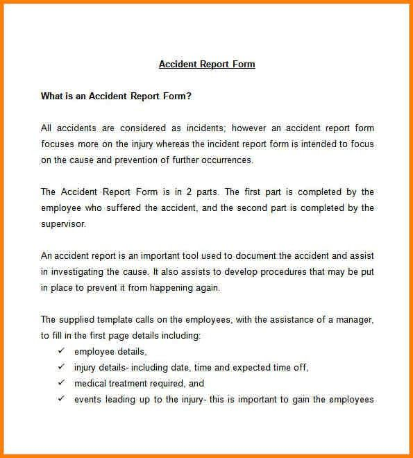 Accident Reports Template Accident Report Template 10 Free Word – Medical Report Template