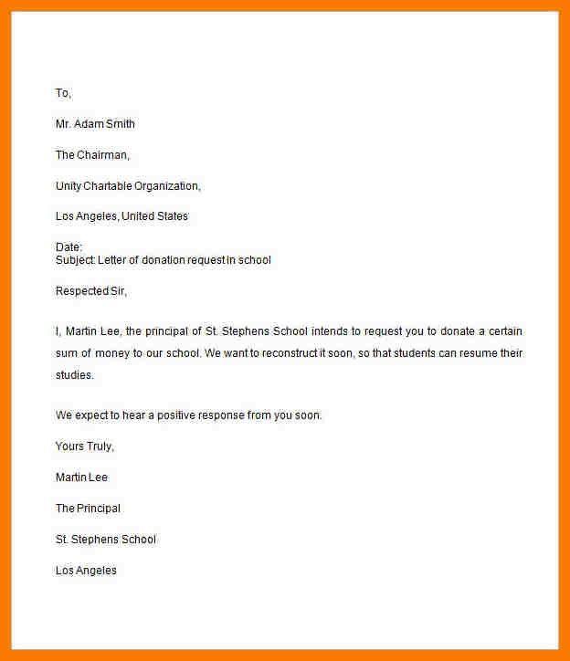 6+ request letter format for school | park-attendant