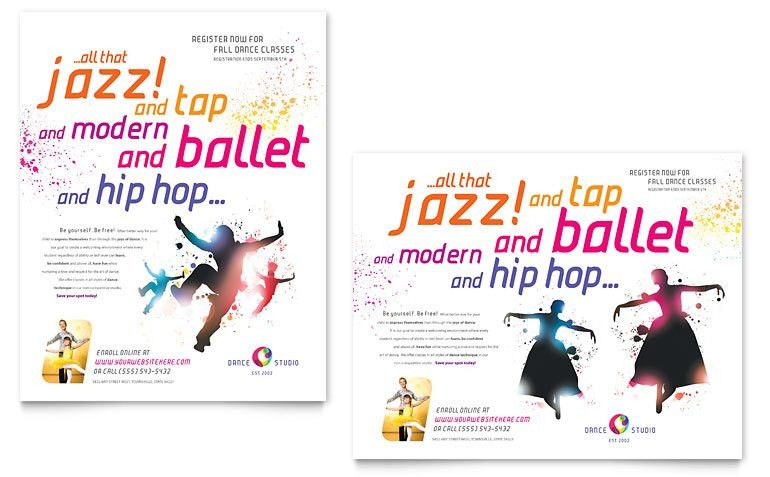 Dance Studio Poster Template - Word & Publisher