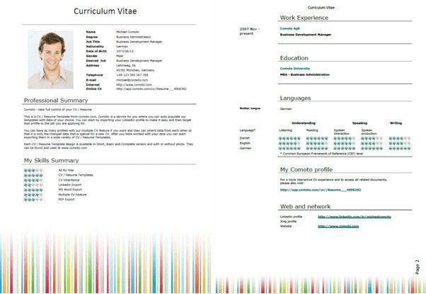 Resume Template Word 2007 | haadyaooverbayresort.com