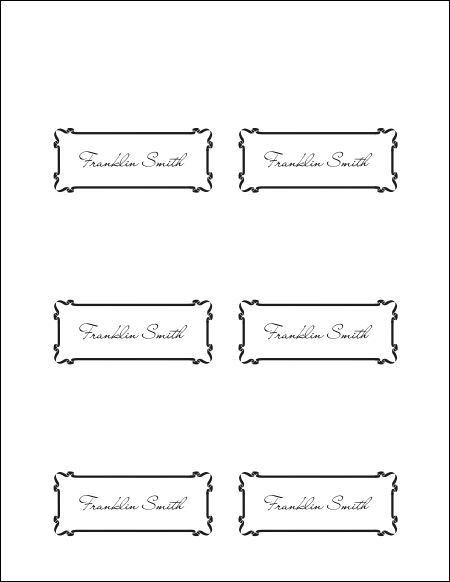 Place Card Template - vnzgames
