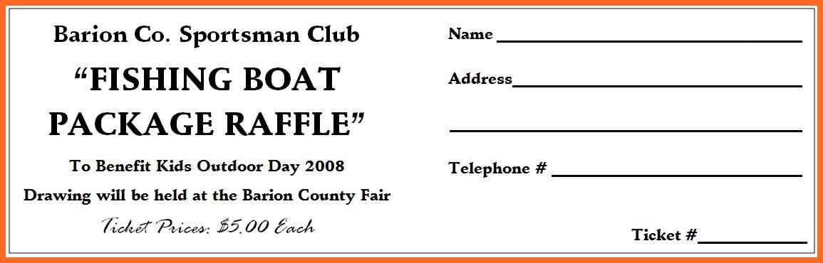 raffle ticket template word | soap format