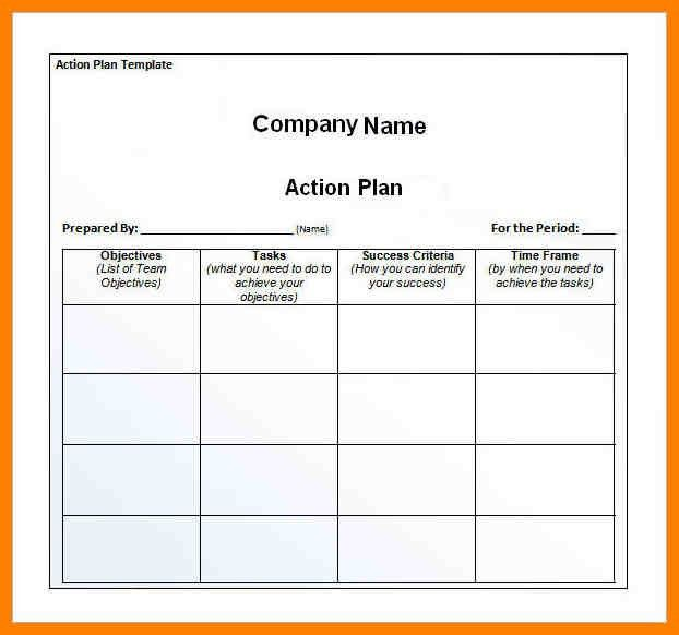 4+ action plan template free | sales resumed