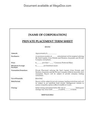 Canada Investor Forms | Legal Forms and Business Templates ...
