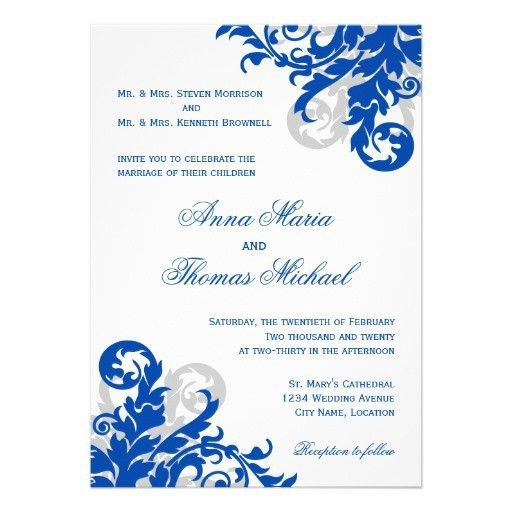 32 Blank Wedding Invitations Templates Blue | Vizio Wedding