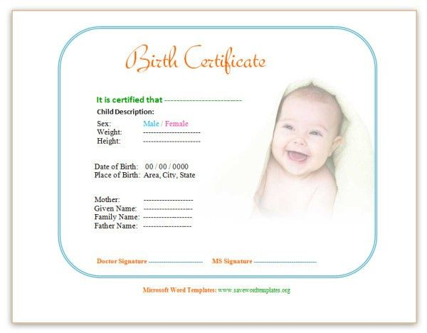 Birth Certificate Template: http://www.savewordtemplates.org/birth ...