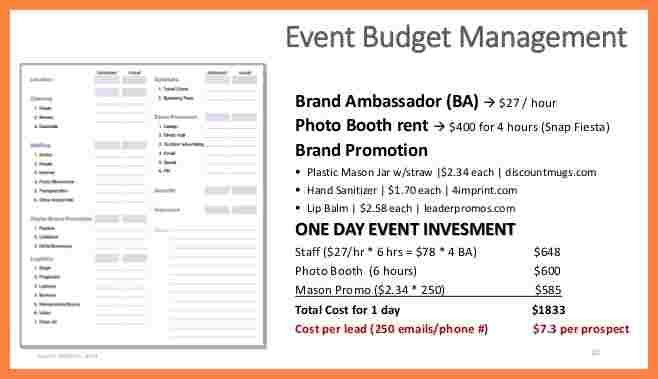 12+ event budget proposal template | Bussines Proposal 2017