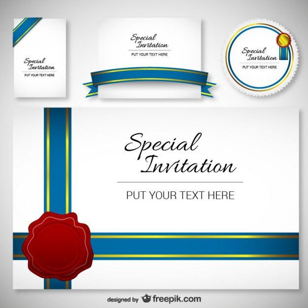 Best Design Invitation Card Template Vector | Free Download