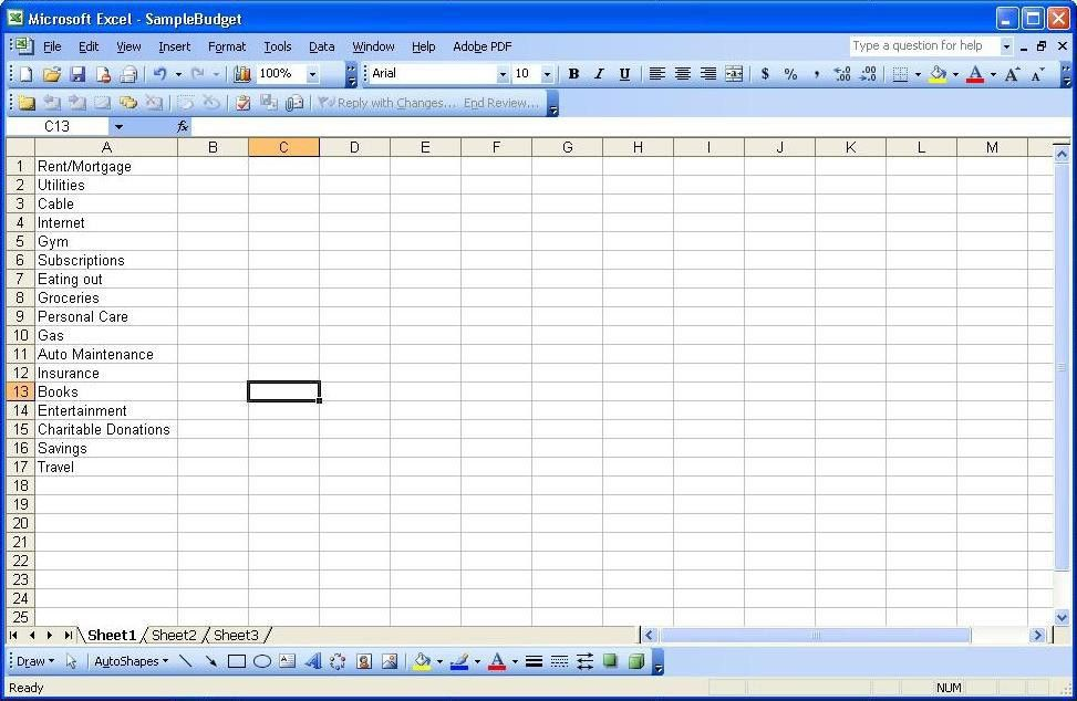 Using Excel: Part 1 – Tracking Spending | Paranoid Asteroid
