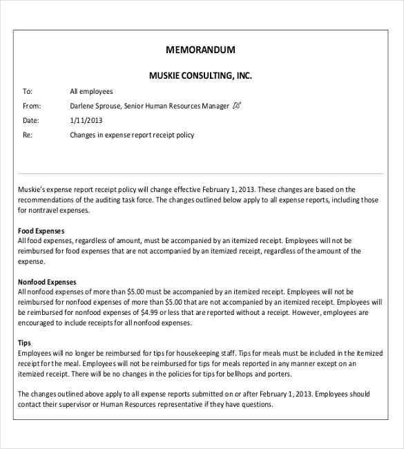 Professional Memo Format Template | Samples.csat.co