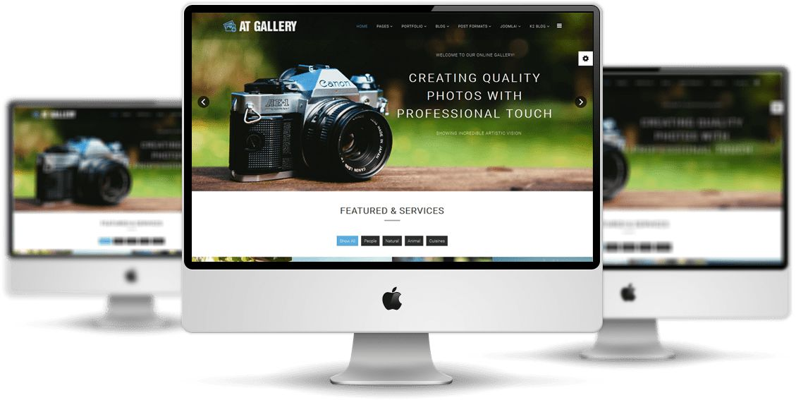 AT Gallery – Free Photography / Image Gallery Joomla Template ...