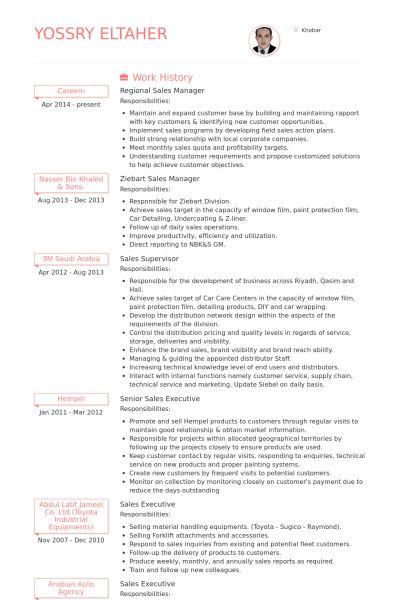 Regional Sales Manager CV Örneği - VisualCV Özgeçmiş Örnekleri ...
