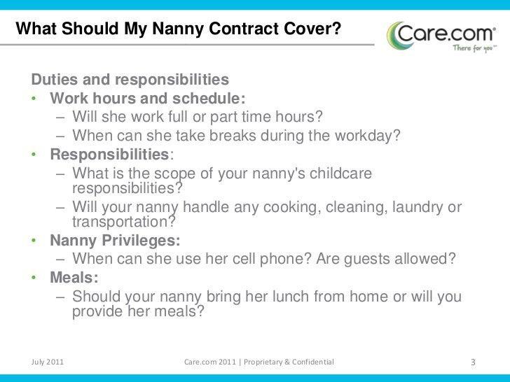 Nanny Contract