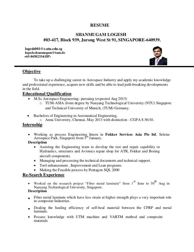 Aerospace Engineering Resume - Contegri.com