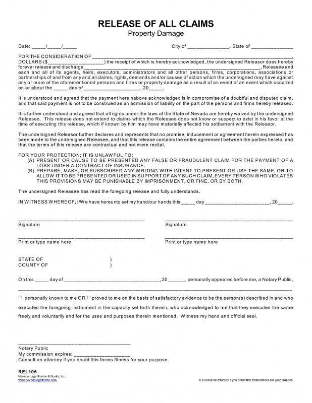 Deed Of Release Form. Sean Behr (@Seanbehr) | Twitter Indemnity ...