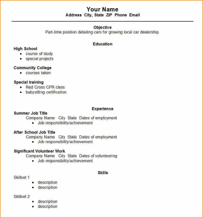 13+ how to make a student resume for job - Basic Job Appication Letter
