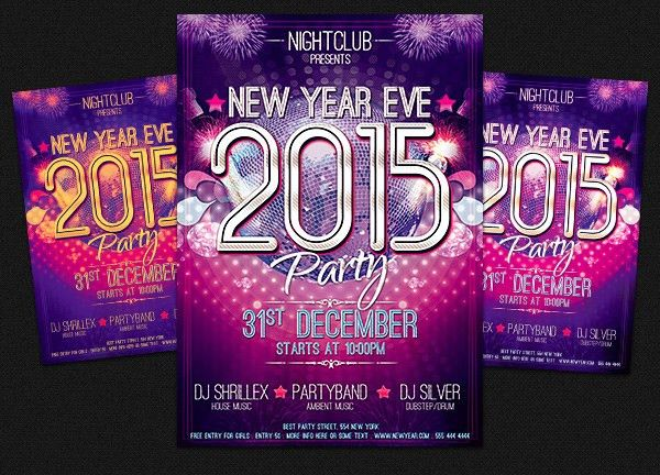 30 Free Christmas Party Flyers and New Year Party Flyer PSD Templates