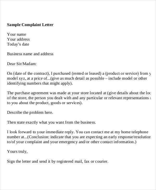 Sample Letters - 30+ Free Sample, Example, Format | Free & Premium ...