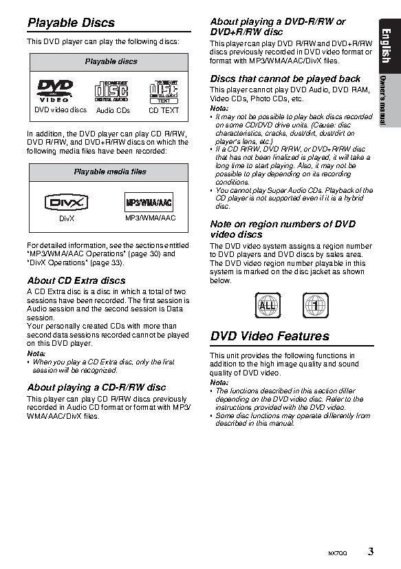 Clarion NX700 user manual