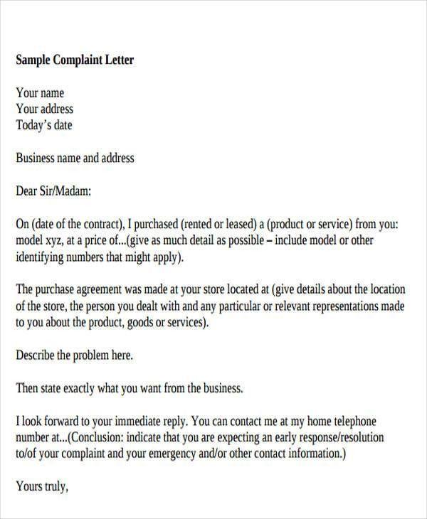 27+ Complaint Letter Formats | Free & Premium Templates
