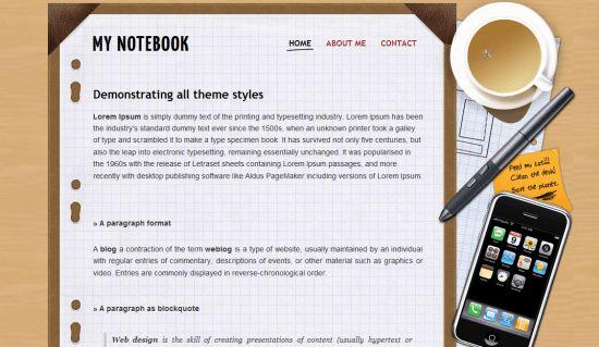 My Notebook Blogger Template