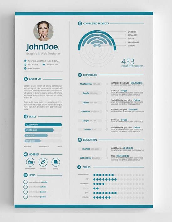 25+ Infographic Resume Templates [Free & Premium Collection]