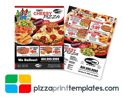 Pizza EDDM Every Door Direct Mail Card Flyer Template #PIZZA0104