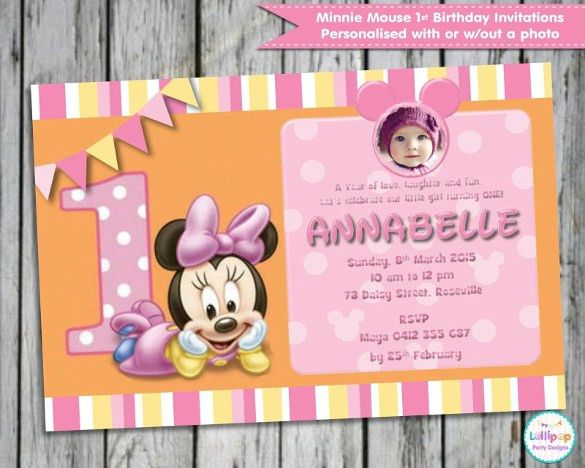 20+ Minnie Mouse Invitation Templates – Free Sample, Example ...