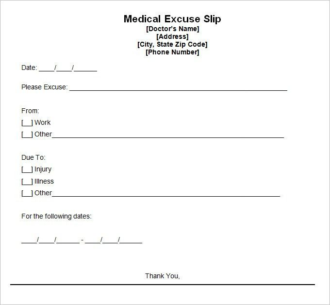 Doctor Excuse Template – 9+ Free Word, Excel, PDF Format Download ...