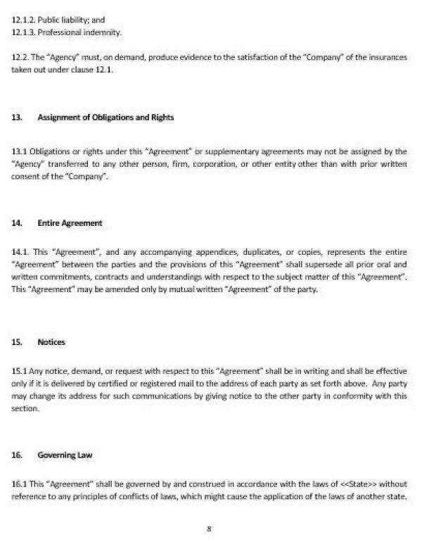 Subcontractor Agreement Template. Contractor Subcontractor ...