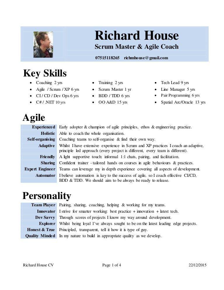 Scrum Master Resume | haadyaooverbayresort.com