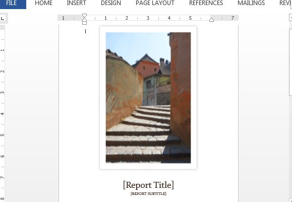 Student Report Template For Word With Cover Photo